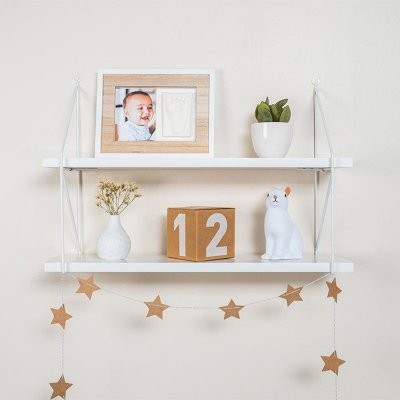 Cadre photo mural my tiny touch bois et blanc Baby art
