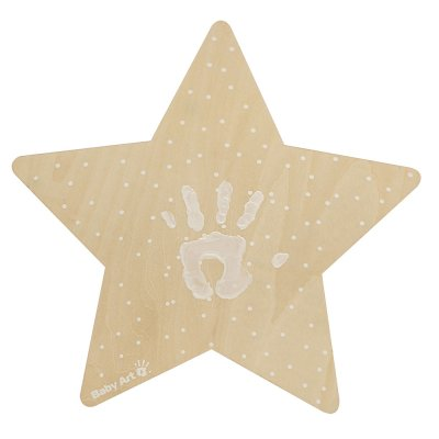 Applique murale étoile avec empreinte Baby art