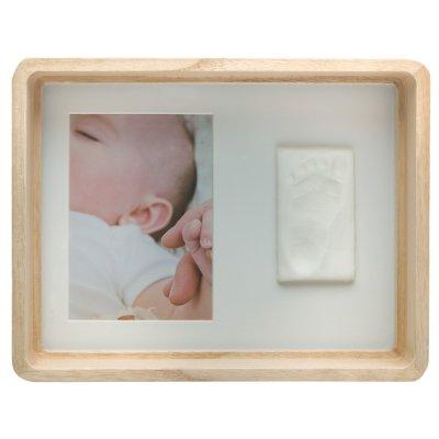Cadre photo avec empreinte bois Baby art
