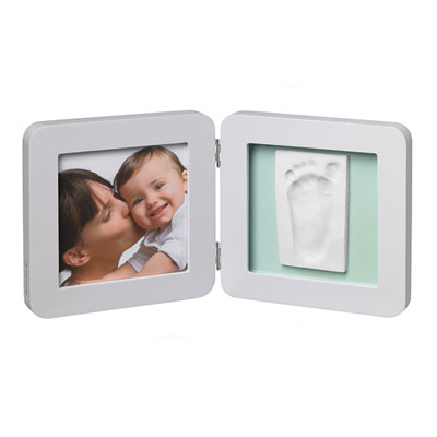 Cadre photo modern avec empreinte pastel Baby art