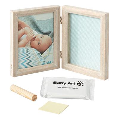 Cadre photo avec empreinte my baby touch bois cérusé Baby art