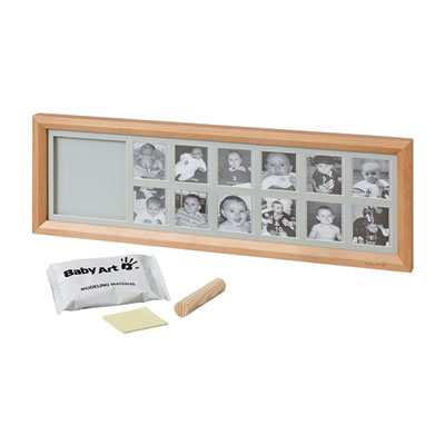 Cadre photo my first year avec empreinte miel Baby art