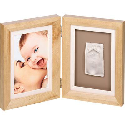 Baby art Cadre photo avec empreinte naturel