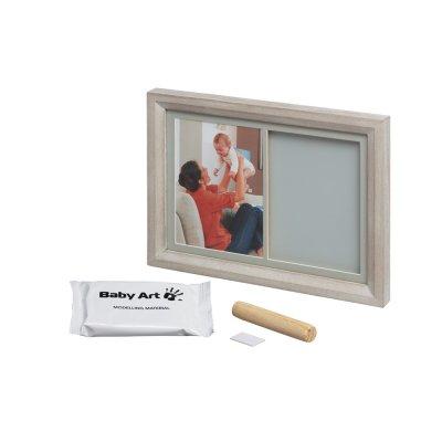 Cadre photo et empreinte tiny touch bois cérusé Baby art