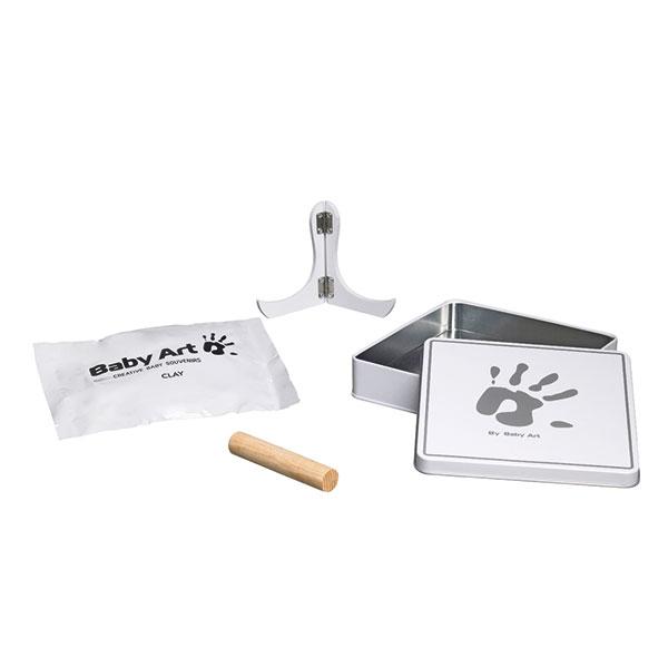 Boîte d'empreinte magic box blanc / gris Baby art