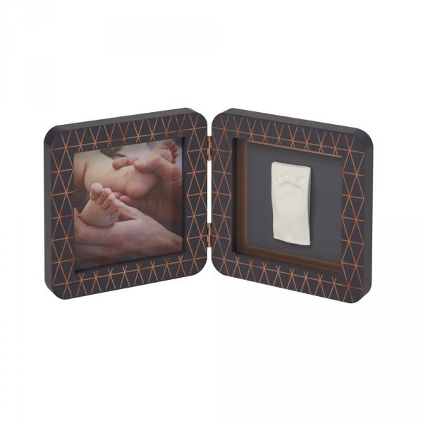 Cadre photo avec empreintes gris foncé bronze cooper éditon Baby art