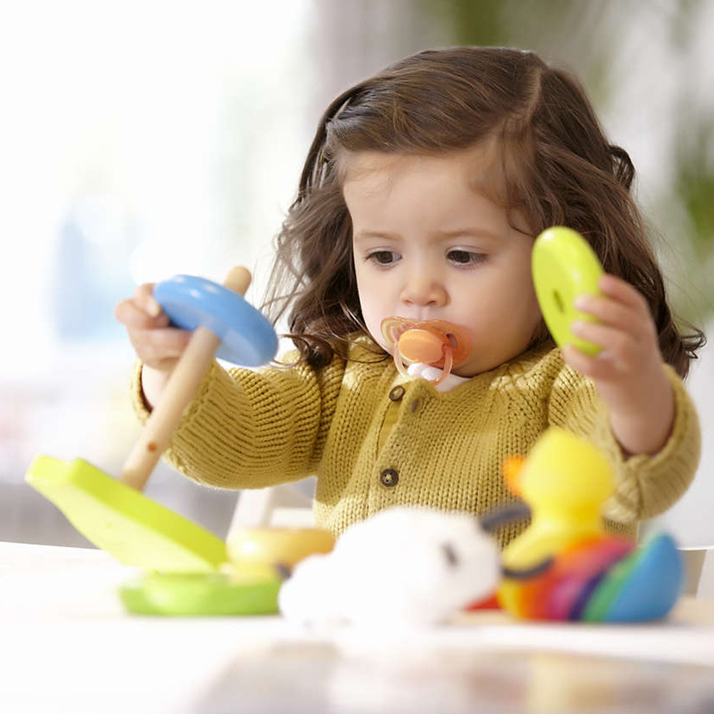 Lot de 2 sucettes b b silicone a r es fille 6 18 mois de - Bebe 18 mois ...