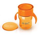 Tasse d'apprentissage 260 ml orange pas cher