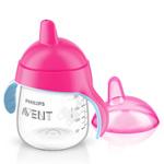 Tasse à bec anti-fuites 260 ml rose