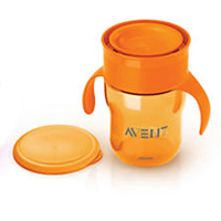 Tasse d'apprentissage 260 ml orange