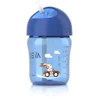 Tasse avec paille 260 ml bleu