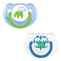 Lot de 2 sucettes silicone elephant bleue 6 - 18 mois