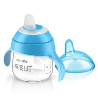 Tasse à bec anti-fuites 200 ml bleue