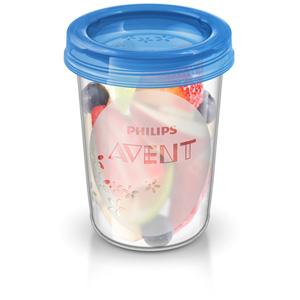 Avent-philips 5 pots de conservation 240 ml + couvercles