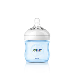 Avent-philips Biberon natural bleu 125 ml