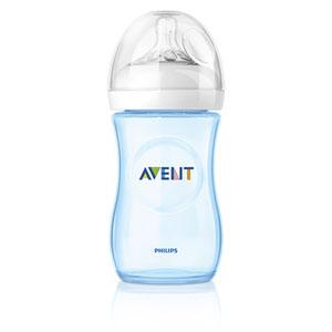 Avent-philips Biberon natural bleu 260 ml