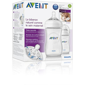 Avent-philips Lot de 2 biberons natural 260 ml