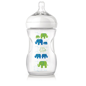 Avent-philips Biberon natural pp elephant garçon 260 ml
