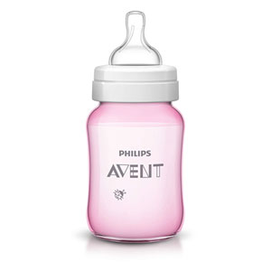 Avent-philips Biberon classic + rose coccinelle 260 ml