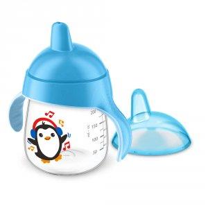 Tasse à bec anti-fuites 260 ml bleue