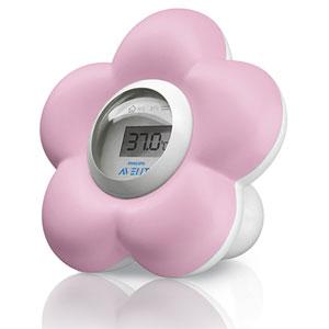 Thermometre bébé de bain et chambre rose