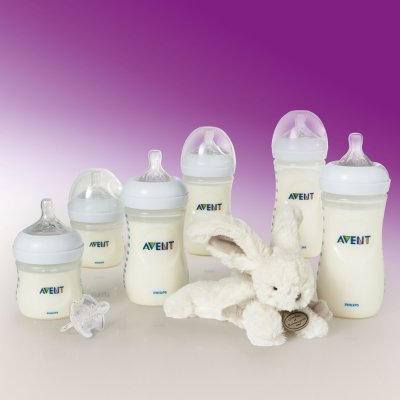 Kit 6 biberons natural + doudou offert Avent-philips