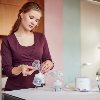 Tire lait electronique double natural + accessoires Avent-philips
