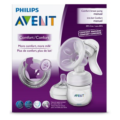 Tire lait manuel naturel avec 1 biberon natural 125 ml Avent-philips