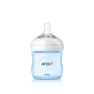 Biberon natural bleu 125 ml Avent-philips