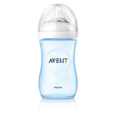 Biberon natural bleu 260 ml Avent-philips
