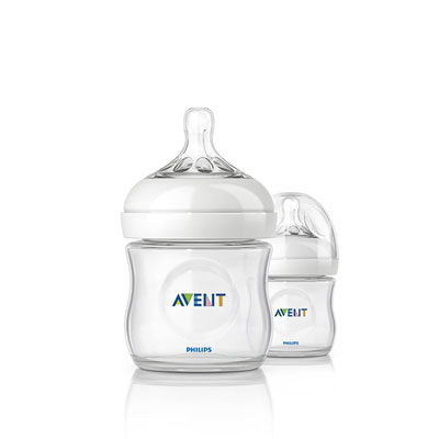 Avent-philips Lot de 2 biberons natural 125 ml