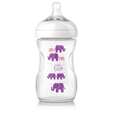 Biberon natural pp elephant fille 260 ml Avent-philips