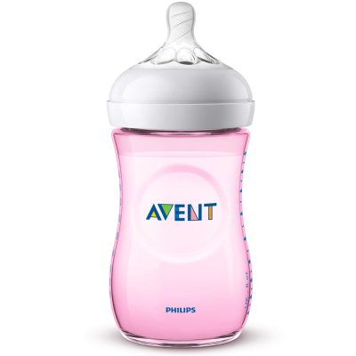 Biberon natural rose 260 ml Avent-philips