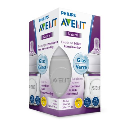 Biberon verre natural 120 ml Avent-philips