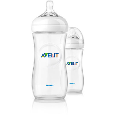 Lot de 2 biberons natural 330 ml Avent-philips