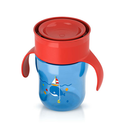 Tasse d'apprentissage 260 ml garçon Avent-philips