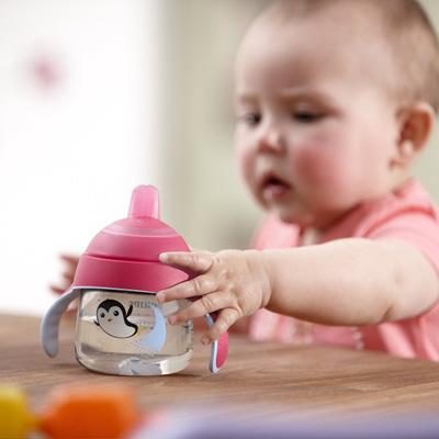 Tasse à bec anti-fuites 200ml rose Avent-philips