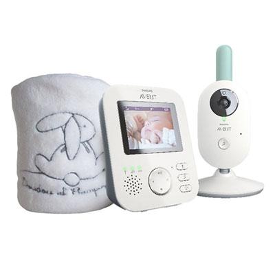Coffret babyphone video scd620/01 + plaid doudou et compagnie offert Avent-philips