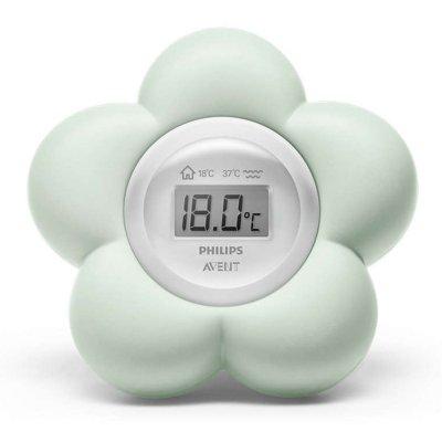 Thermometre bébé de bain et de chambre vert Avent-philips