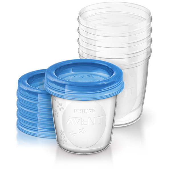 5 pots de conservation 180 ml + couvercles Avent-philips