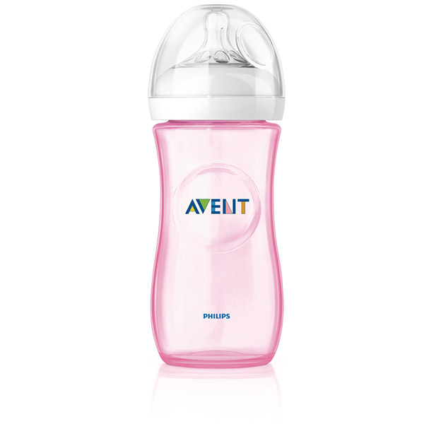 Biberon natural rose 330 ml Avent-philips