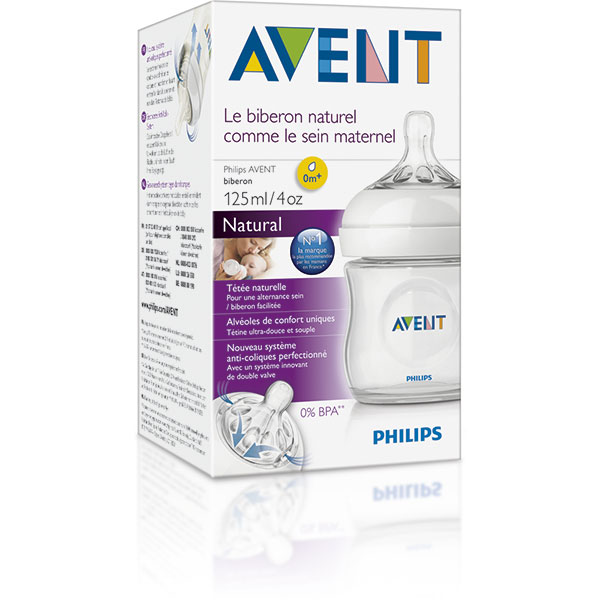 Biberon natural 125 ml Avent-philips