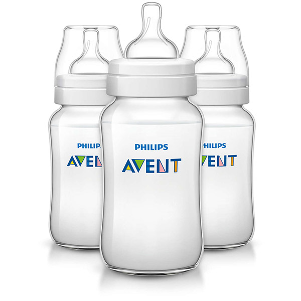 Lot de 3 biberons classic + 330 ml Avent-philips