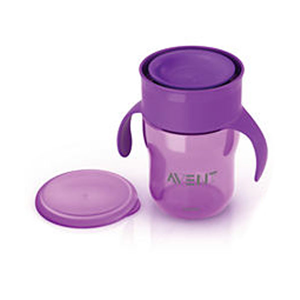 Tasse d'apprentissage 260 ml violet Avent-philips