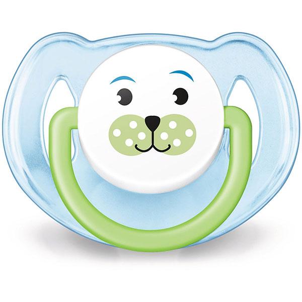 Lot de 2 sucettes silicone orthodontiques animal 6-18 mois garçon Avent-philips