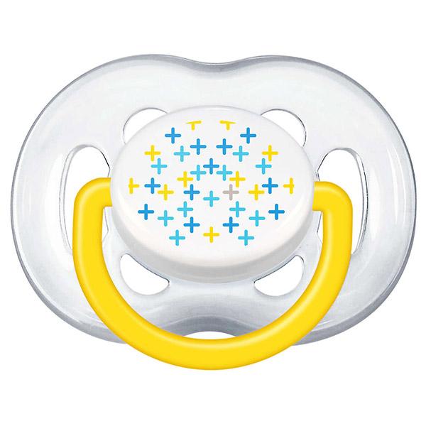Lot de 2 sucettes bébé silicone aérées tendance 6-18 mois Avent-philips