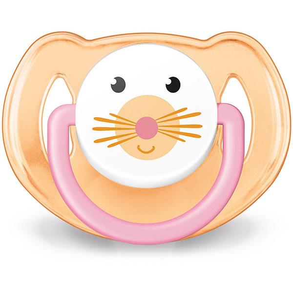 Lot de 2 sucettes bébé silicone orthodontiques animal fille 6-18 mois Avent-philips