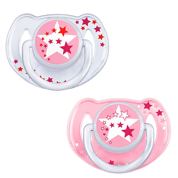 2 sucettes nuit silicone rose 6-18 mois Avent-philips