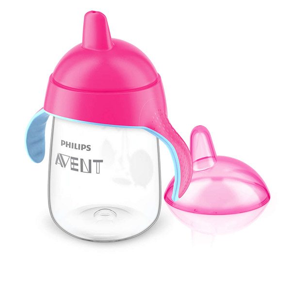 Tasse à bec anti-fuites rose 340 ml Avent-philips
