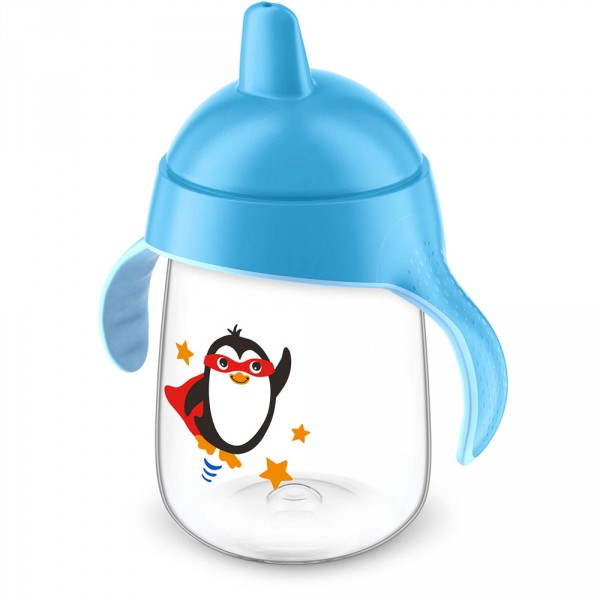 Tasse à bec anti-fuites 340 ml bleue Avent-philips